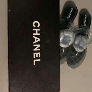 Blue Chanel Jelly flower sandal.